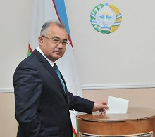 Candidate for President of the Republic of Uzbekistan Akmal Saidov voted on elections